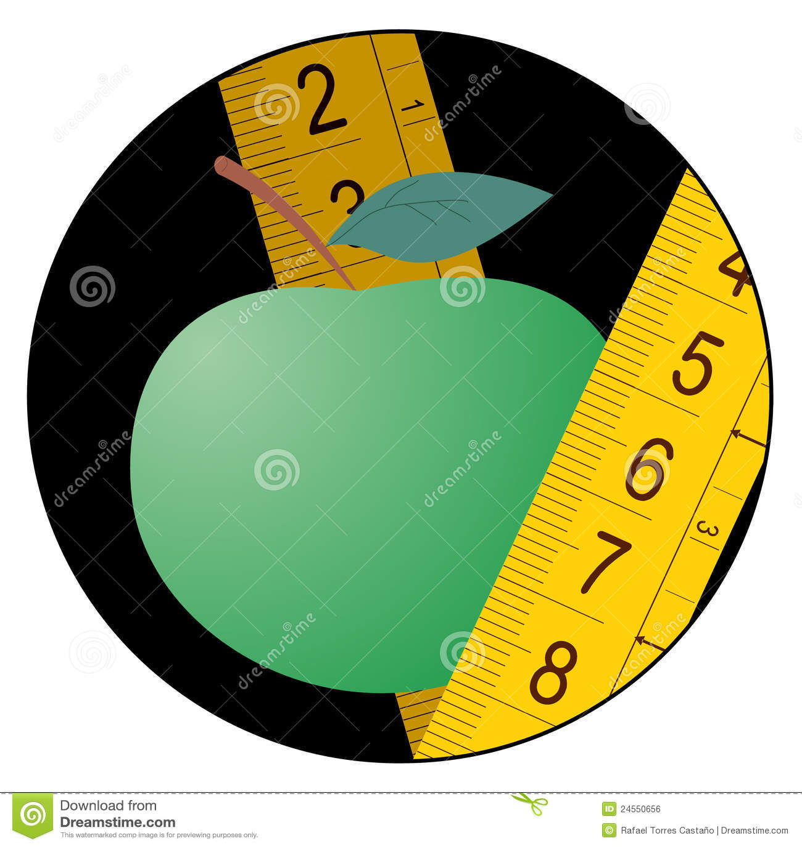 икона зеленого цвета диетпитания яблока
