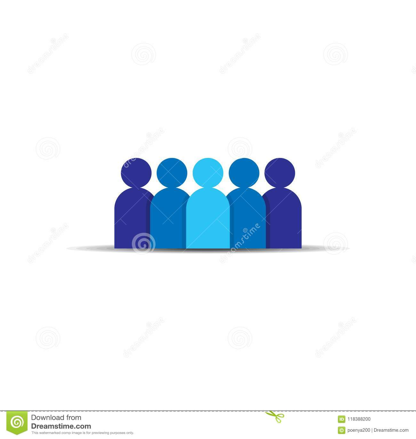 Икона людей Команда дела корпоративная работая совместно Социальный символ логотипа группы сети Знак толпы Conce руководства или