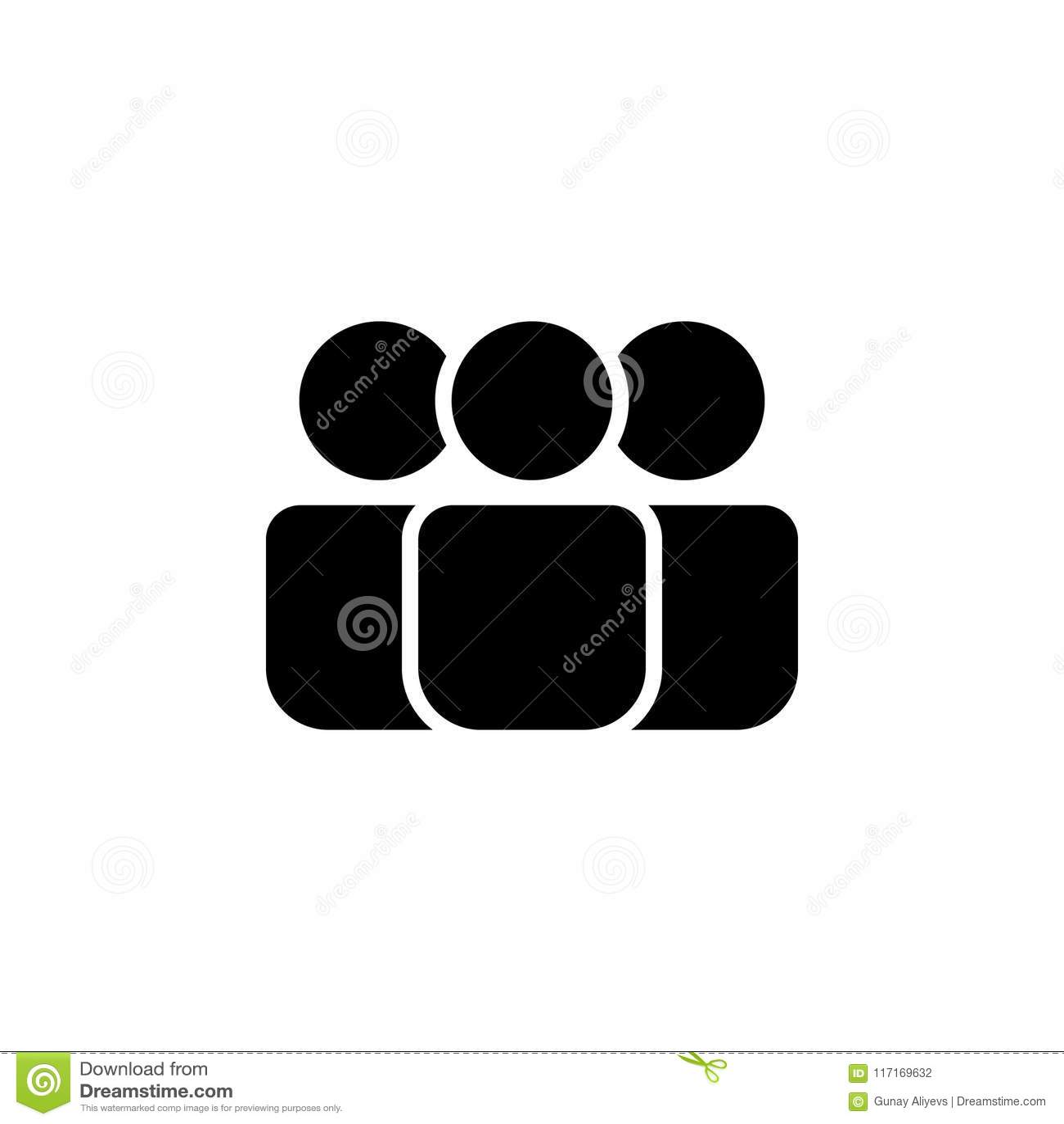 Икона людей Элемент значка сети для передвижных apps концепции и сети Изолированный значок людей можно использовать для сети и че