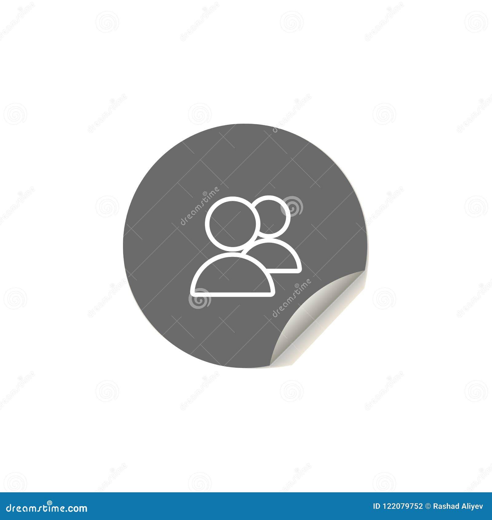 Икона людей Элемент значков сети для передвижных apps концепции и сети Значок людей стиля стикера можно использовать для сети и п