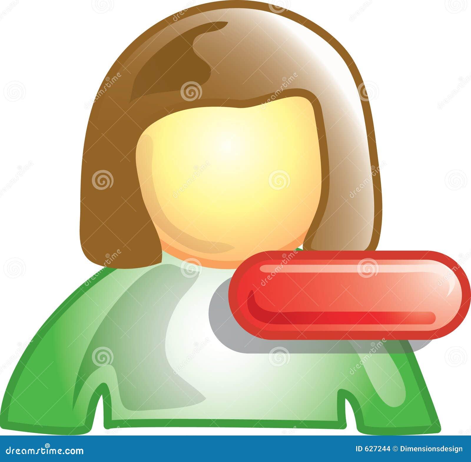 Download икона минус персона иллюстрация вектора. иллюстрации насчитывающей кнопка - 627244