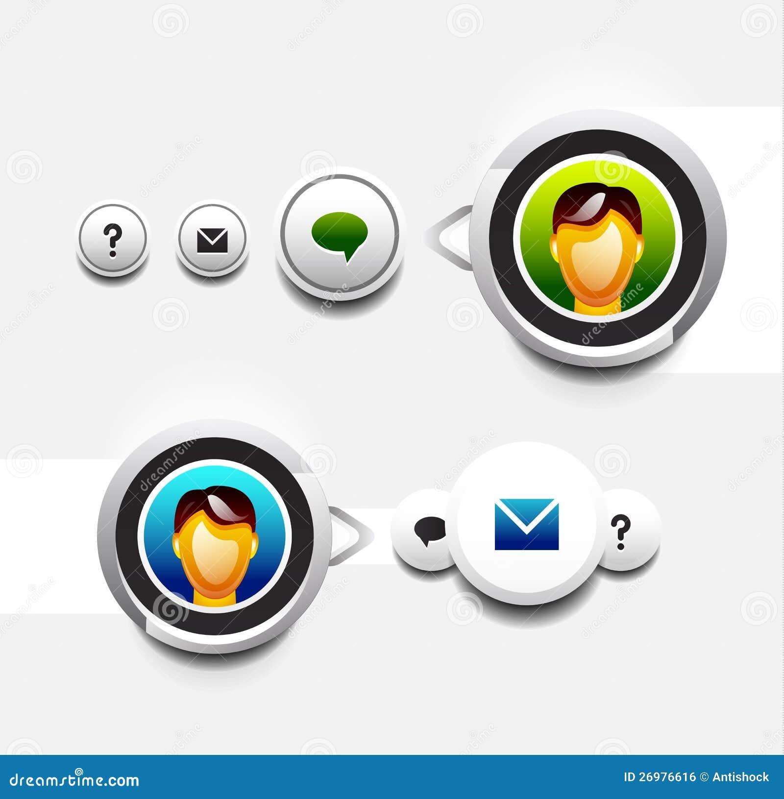 Икона потребителя с tooltip
