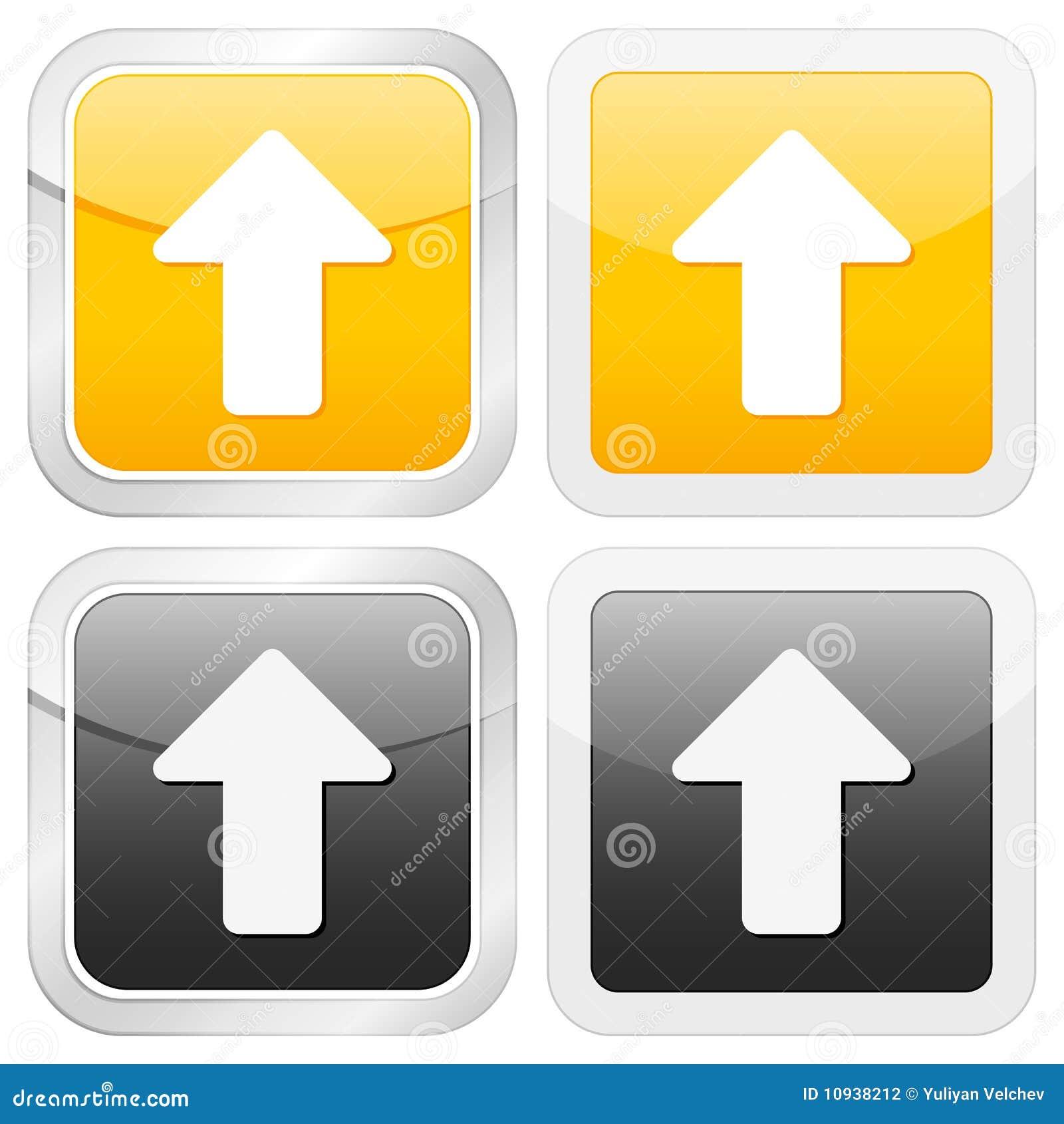 икона стрелки придает квадратную форму вверх