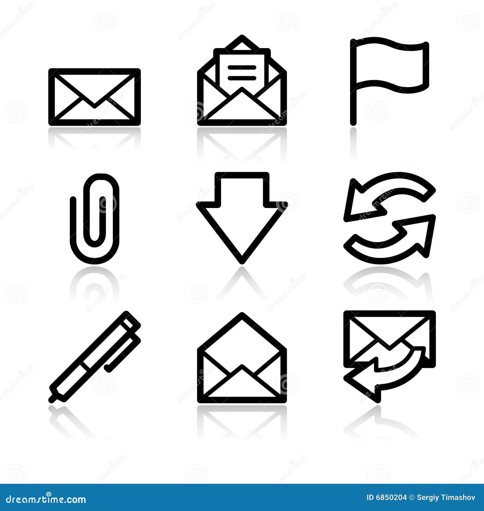 иконы контура e пересылают сеть