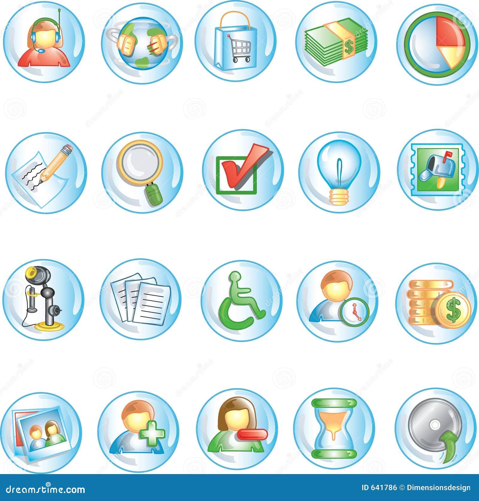 Download иконы 1 круглые иллюстрация вектора. иллюстрации насчитывающей bowwow - 641786