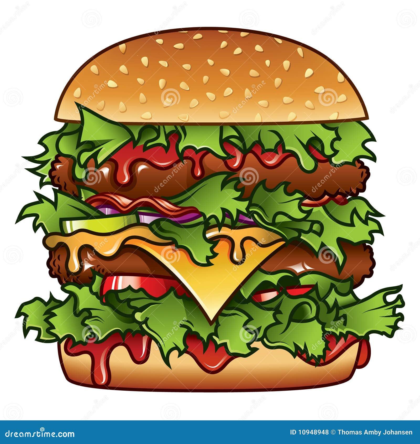 иллюстрация бургера