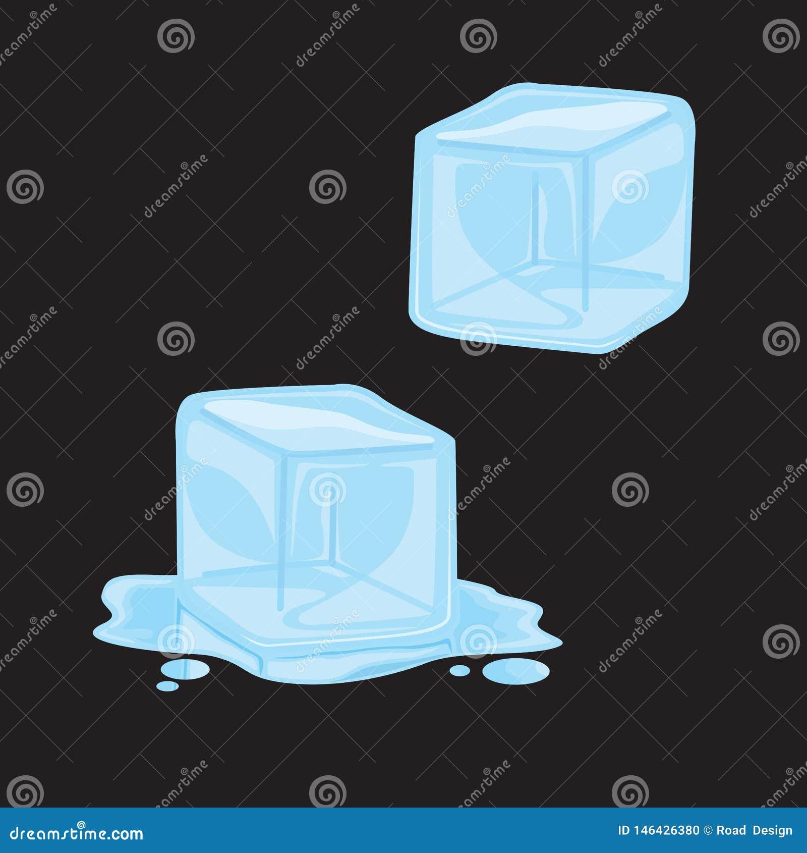 Иллюстрация вектора искусства зажима куба льда