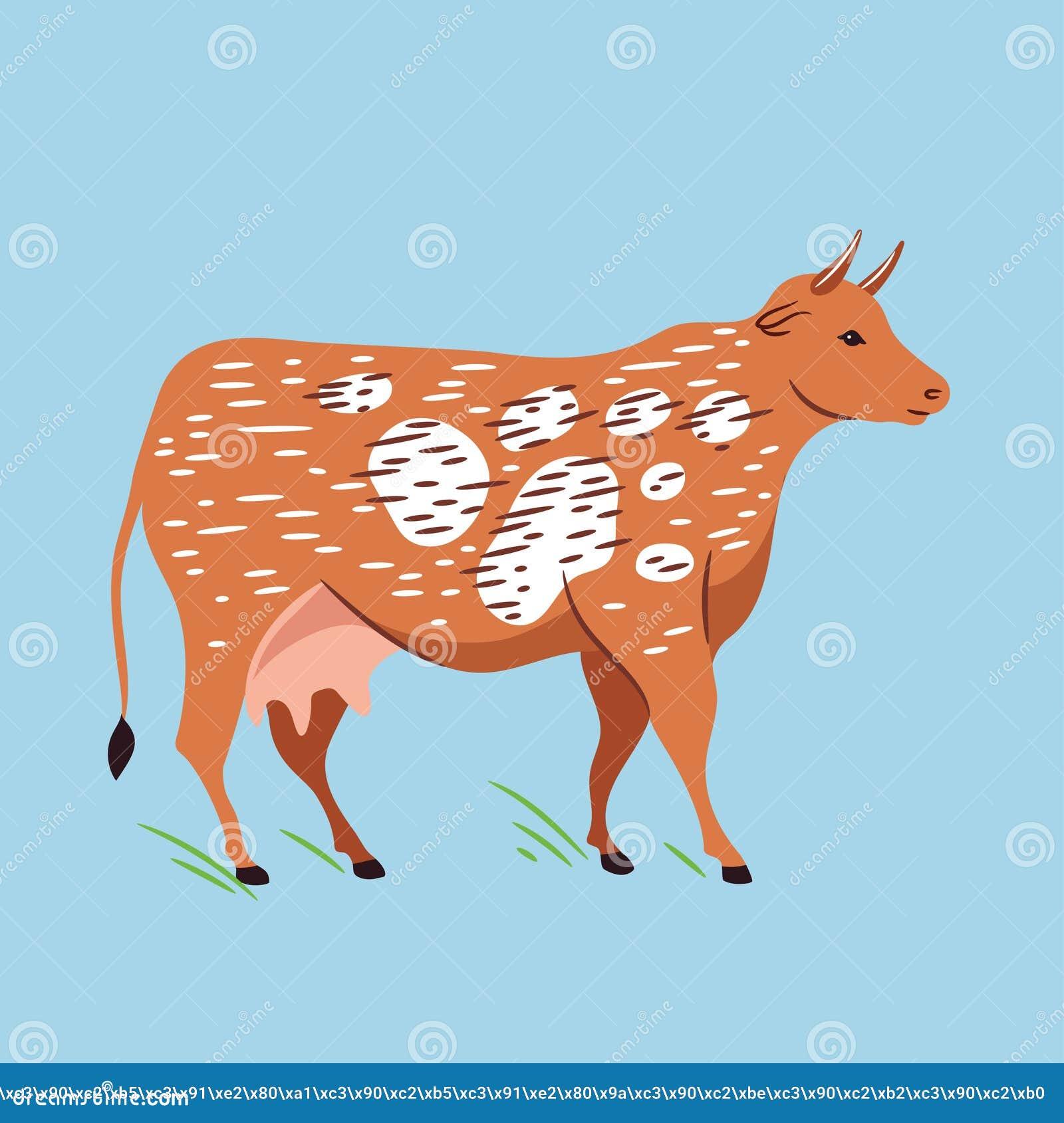 Иллюстрация вектора коровы Иллюстрация фермы