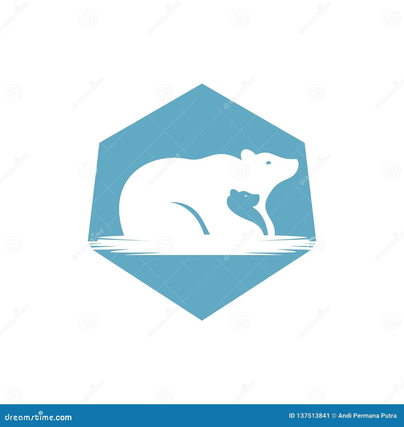 Иллюстрация вектора логотипа семьи медведя