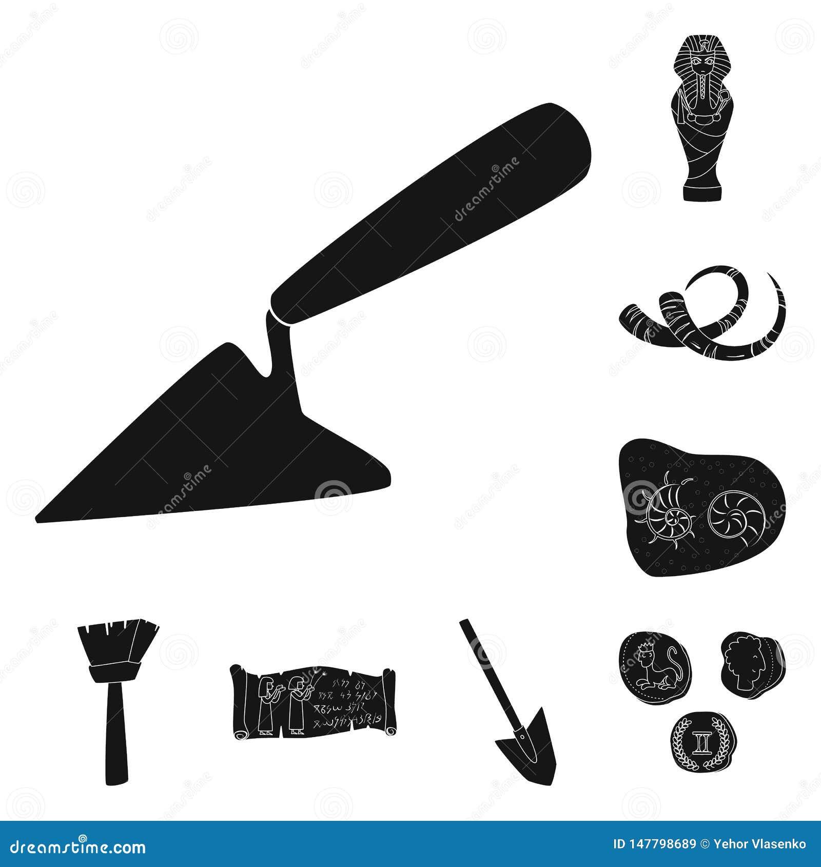 Иллюстрация вектора музея и символа атрибутов Собрание музея и исторический значок вектора для запаса