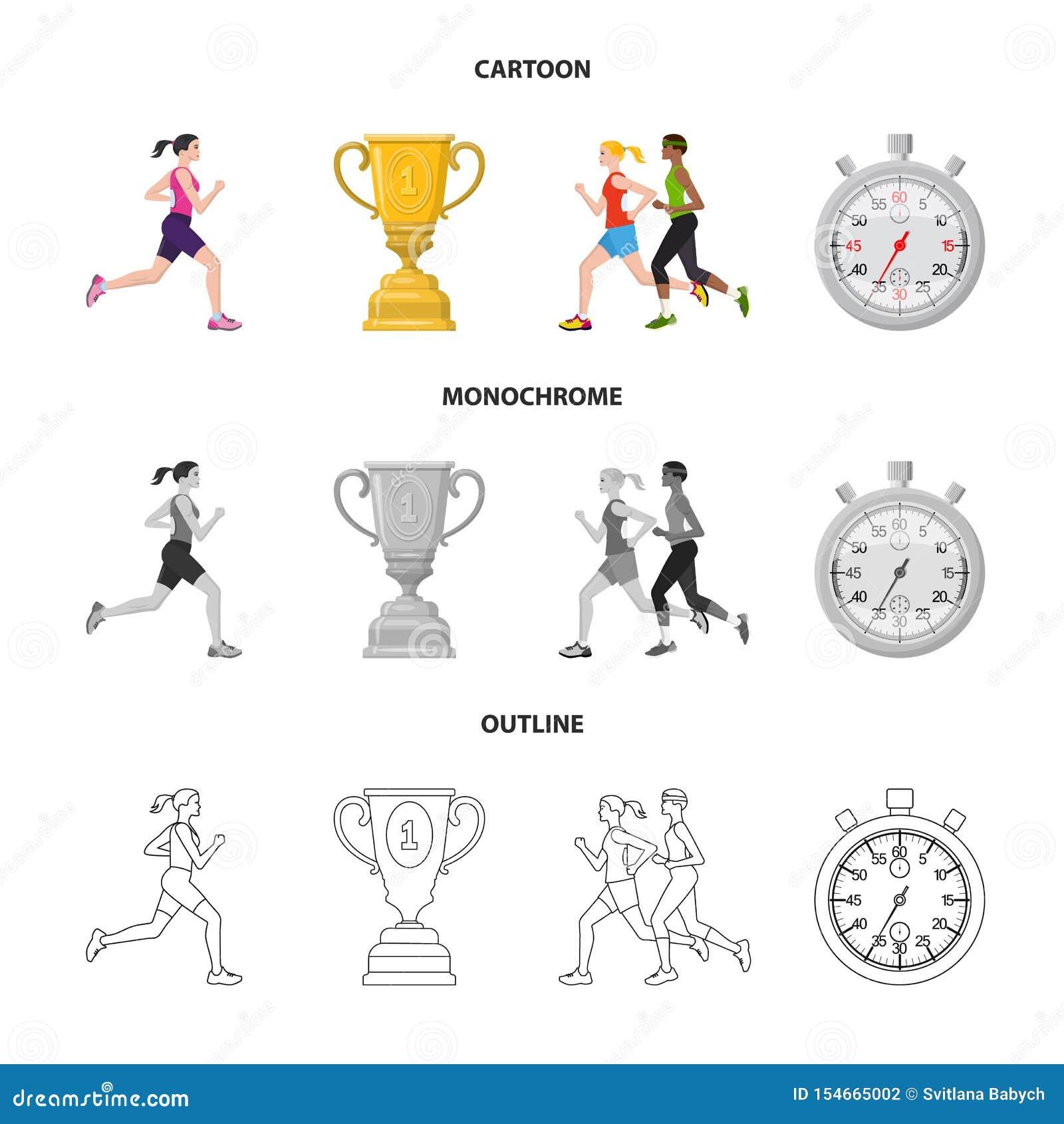 Иллюстрация вектора спорта и символа победителя Собрание значка вектора спорта и фитнеса для запаса