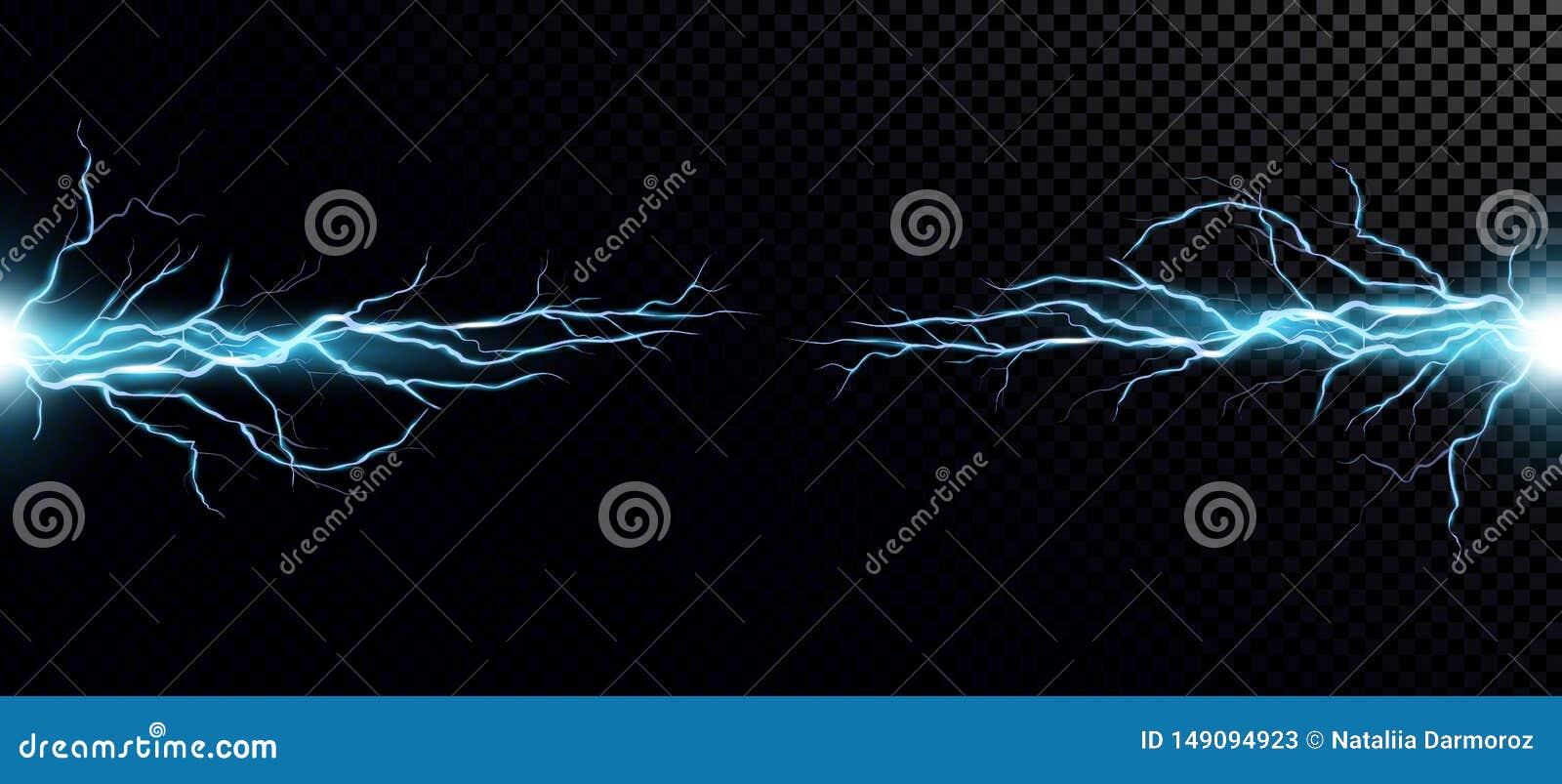 Иллюстрация вектора столкновения 2 сил с голубым светом