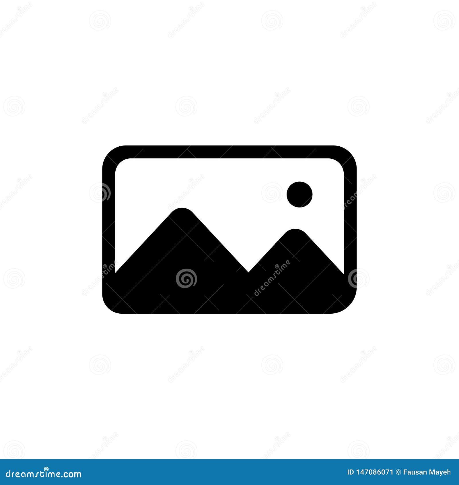 Иллюстрация вектора твердого значка изображения Значок фото