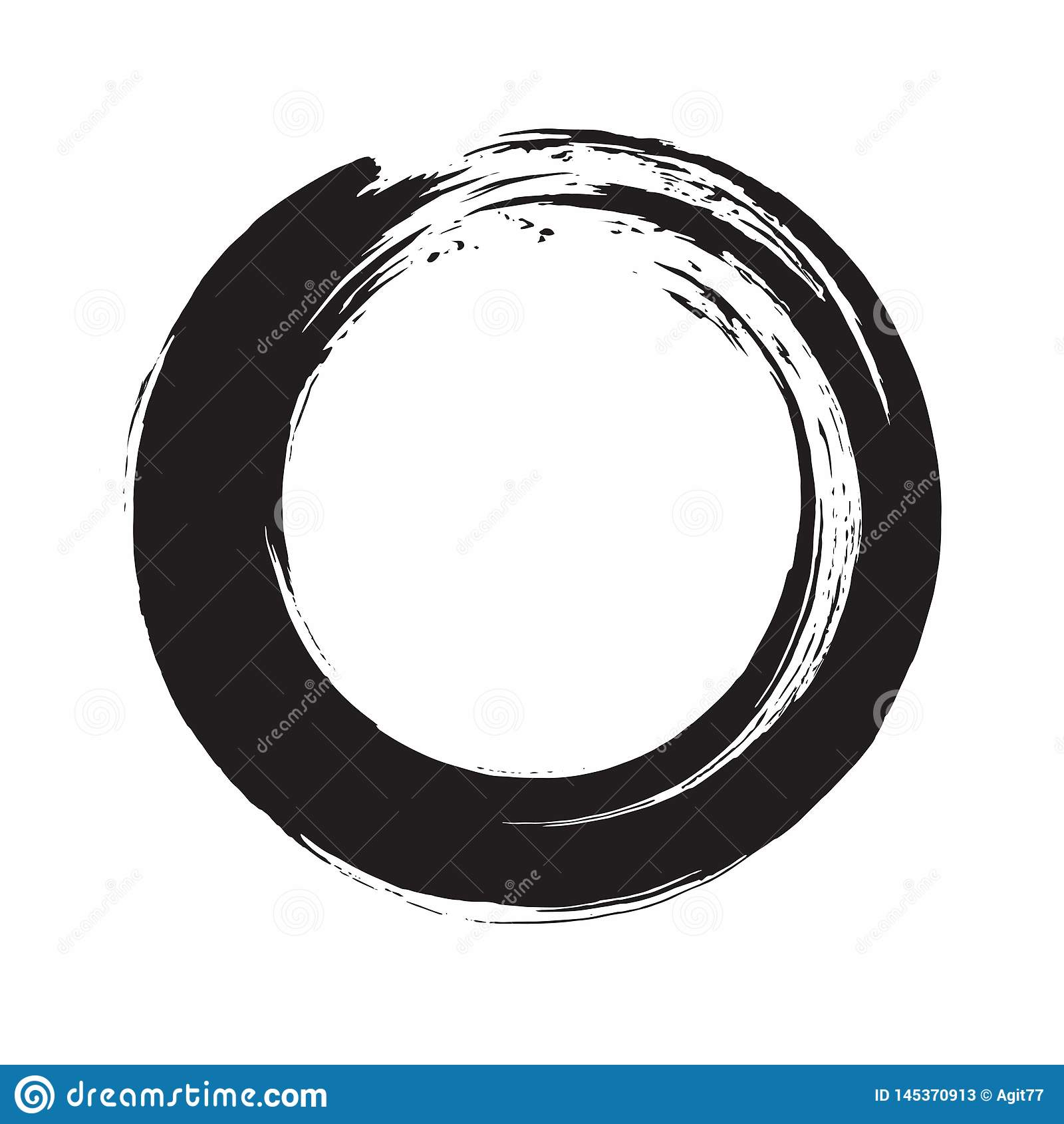 Иллюстрация вектора щетки чернил круга дзэна Enso