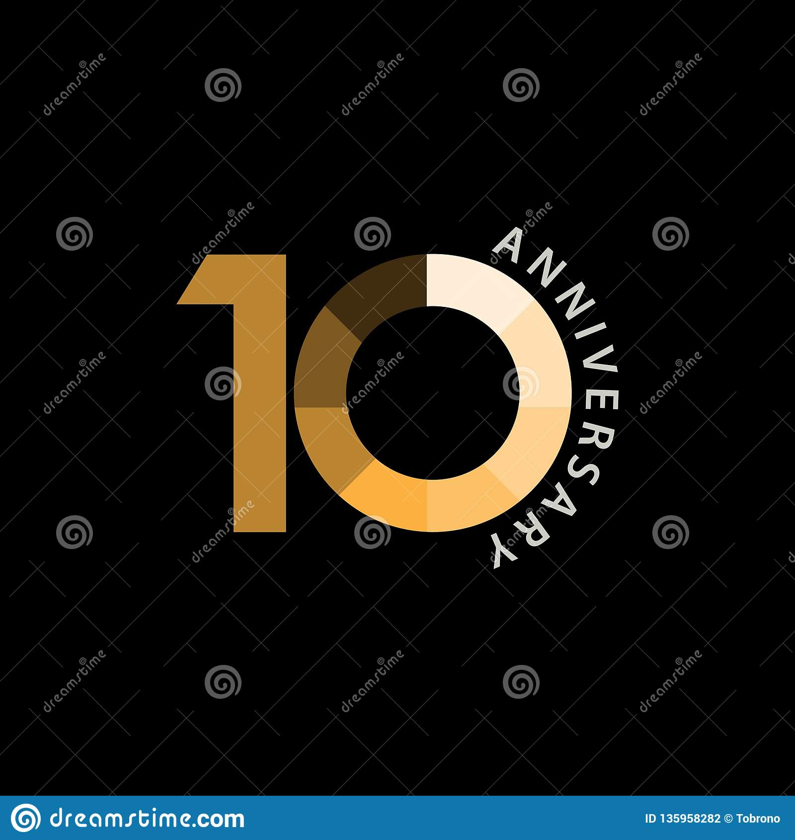 Иллюстрация дизайна вектора годовщины 10 год