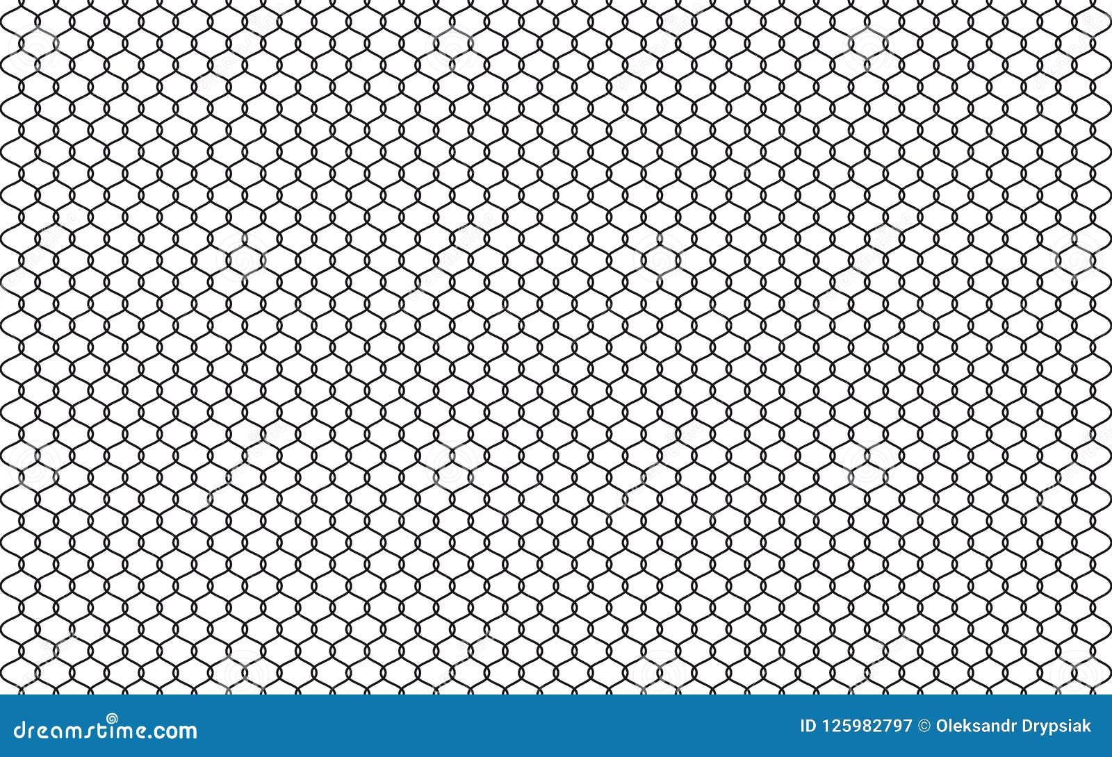Иллюстрация загородки звена цепи изолированная на белой предпосылке Vector барьер тюрьмы, обеспеченный элемент графика свойства