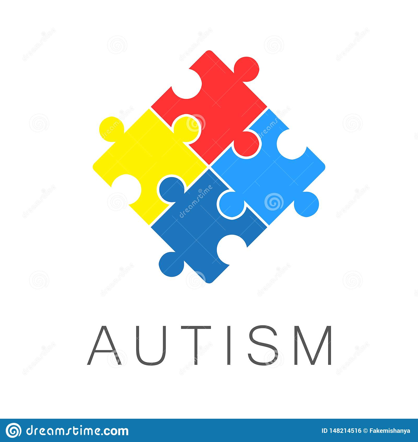 Иллюстрация, знамя или плакат дня осведомленности аутизма мира