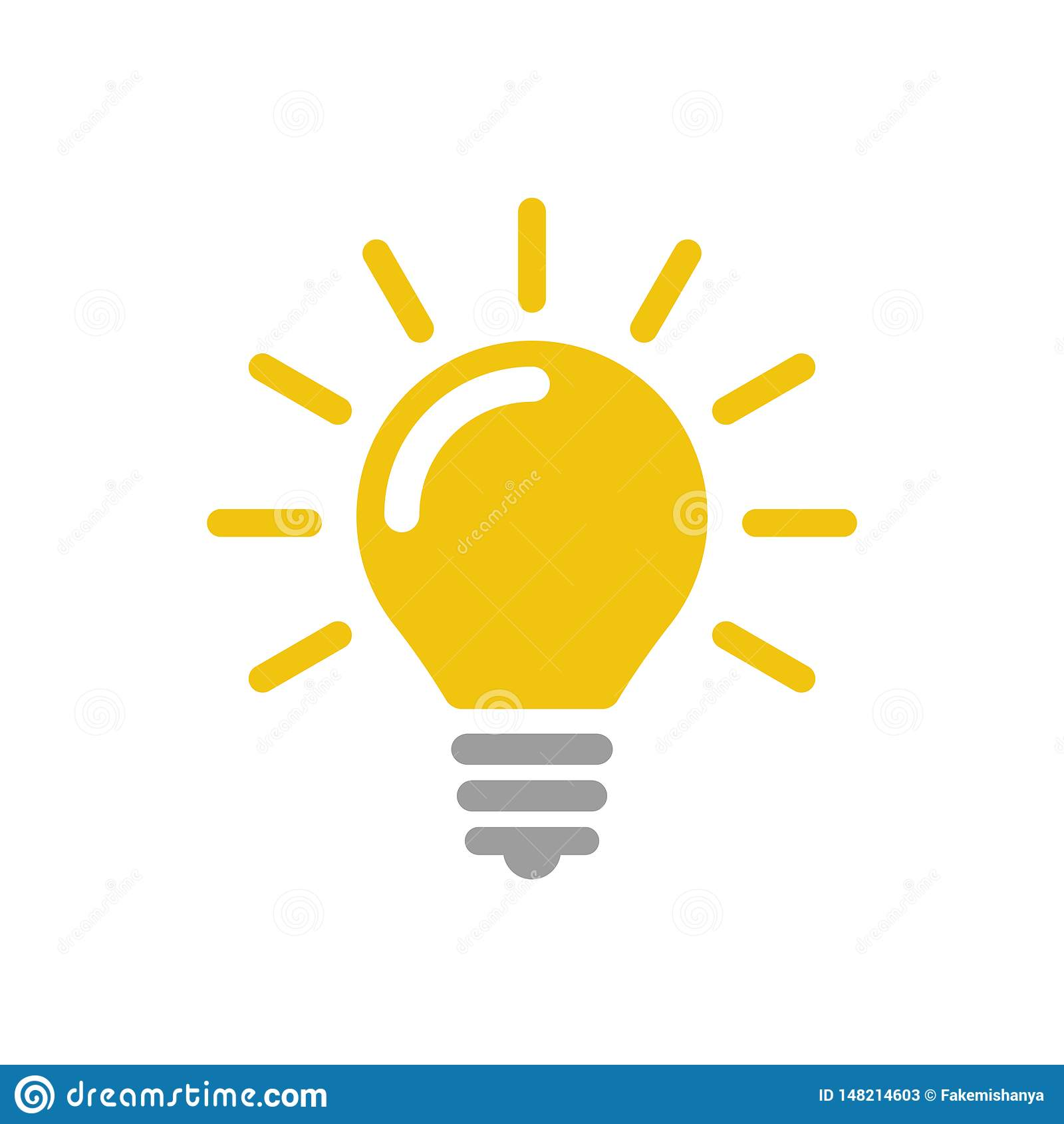 Иллюстрация значка значка вектора лампы