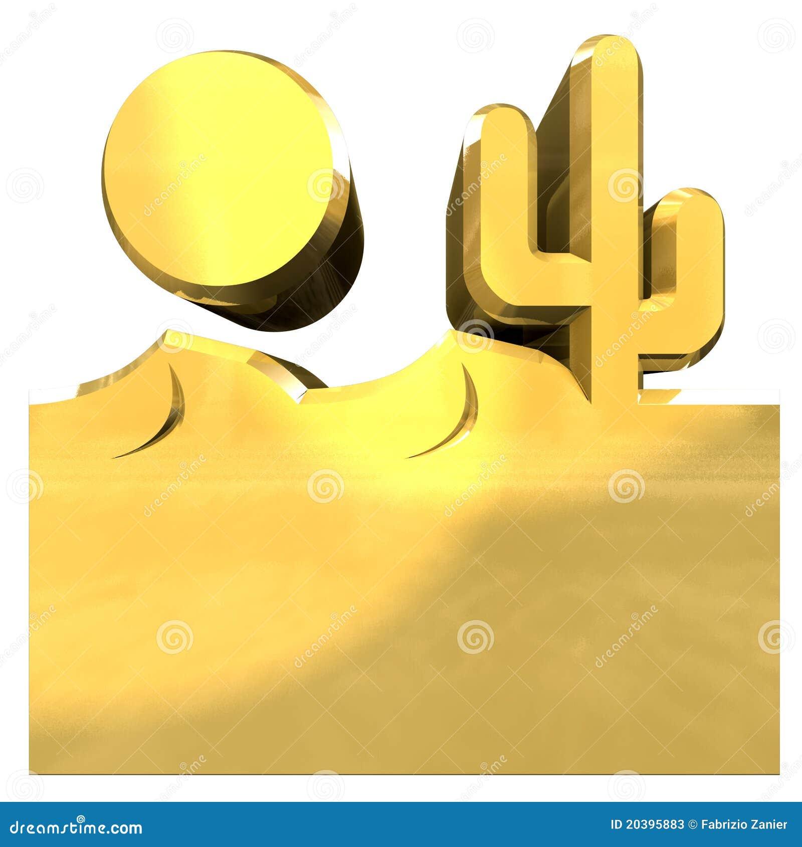 Иллюстрация золота пустыни
