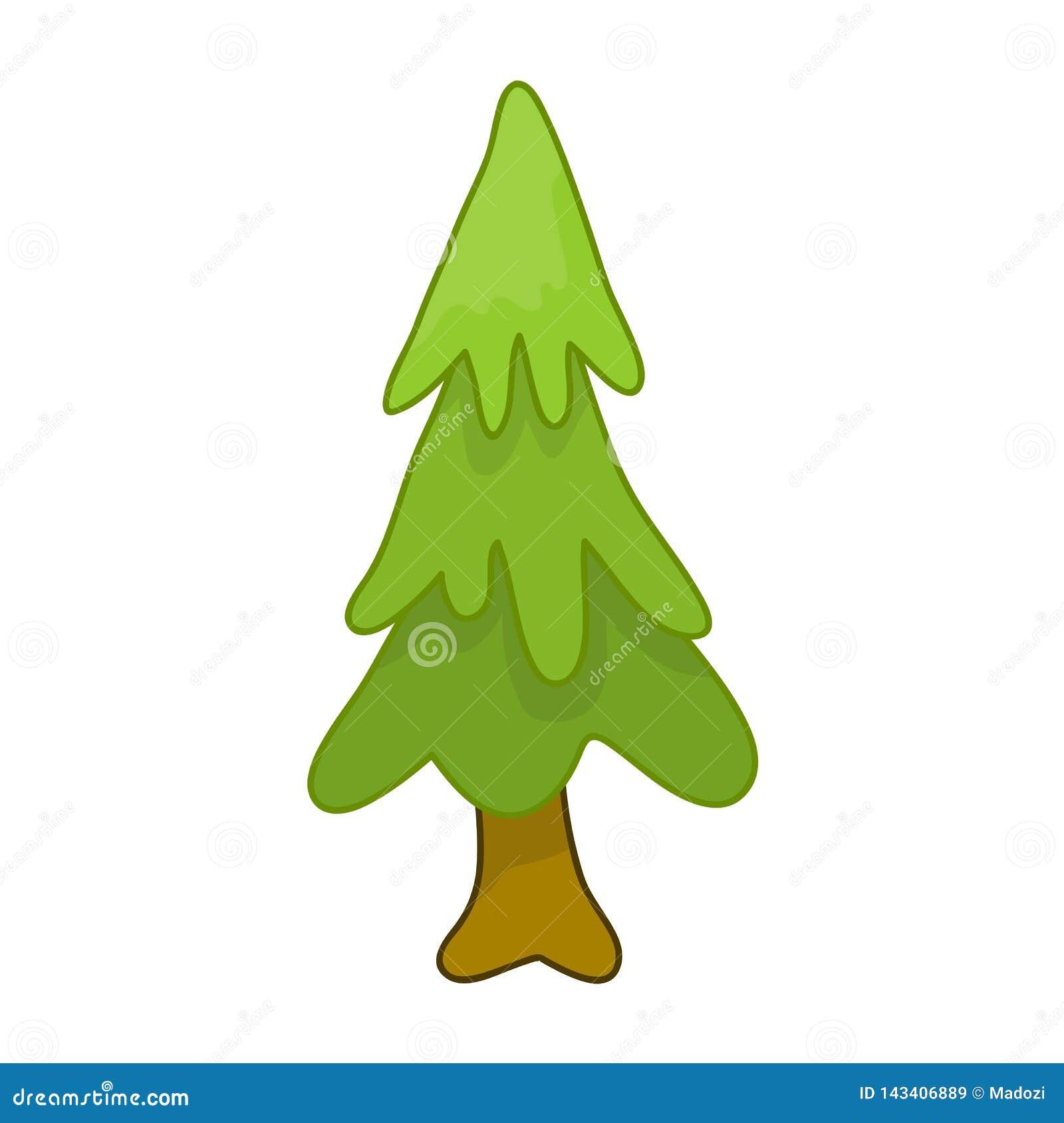 Иллюстрация изолированная рождественской елкой