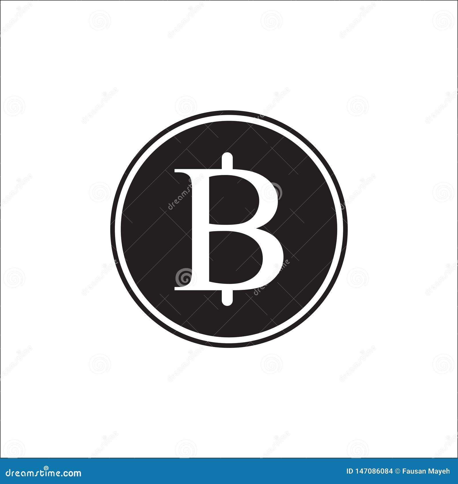 Иллюстрация логотипа, вектор Таиланда валюты знака тайского бата, вектор монетки бата