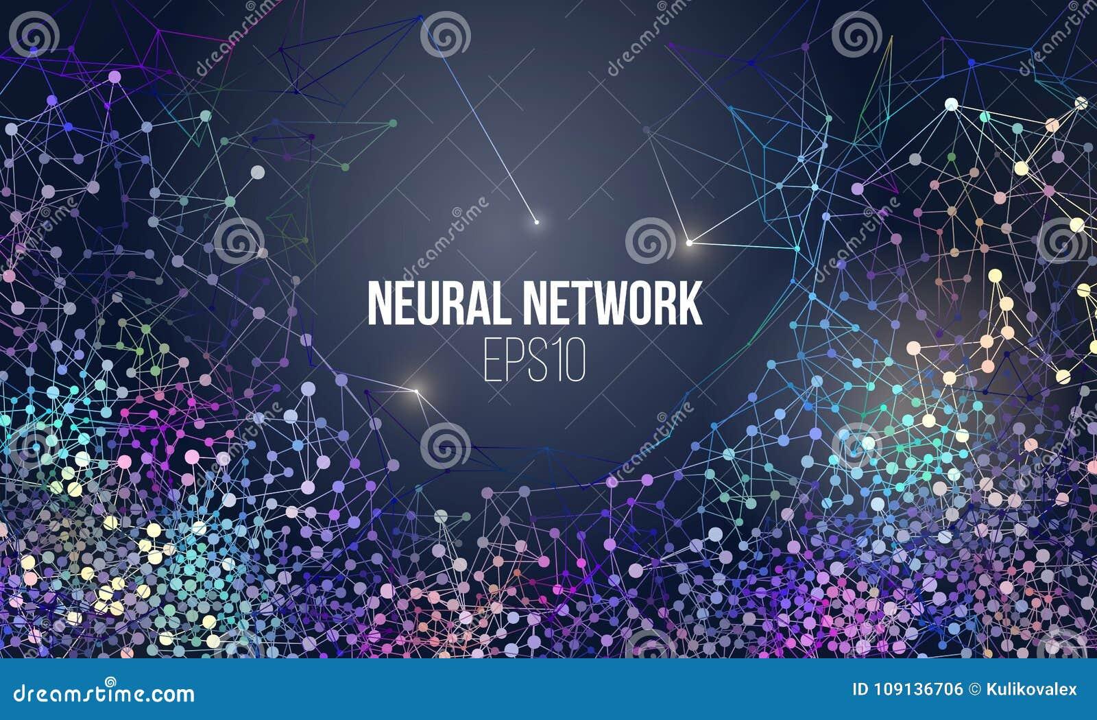 Иллюстрация нервной системы Абстрактный учебный прочесс машинного обучения Геометрическая крышка данных