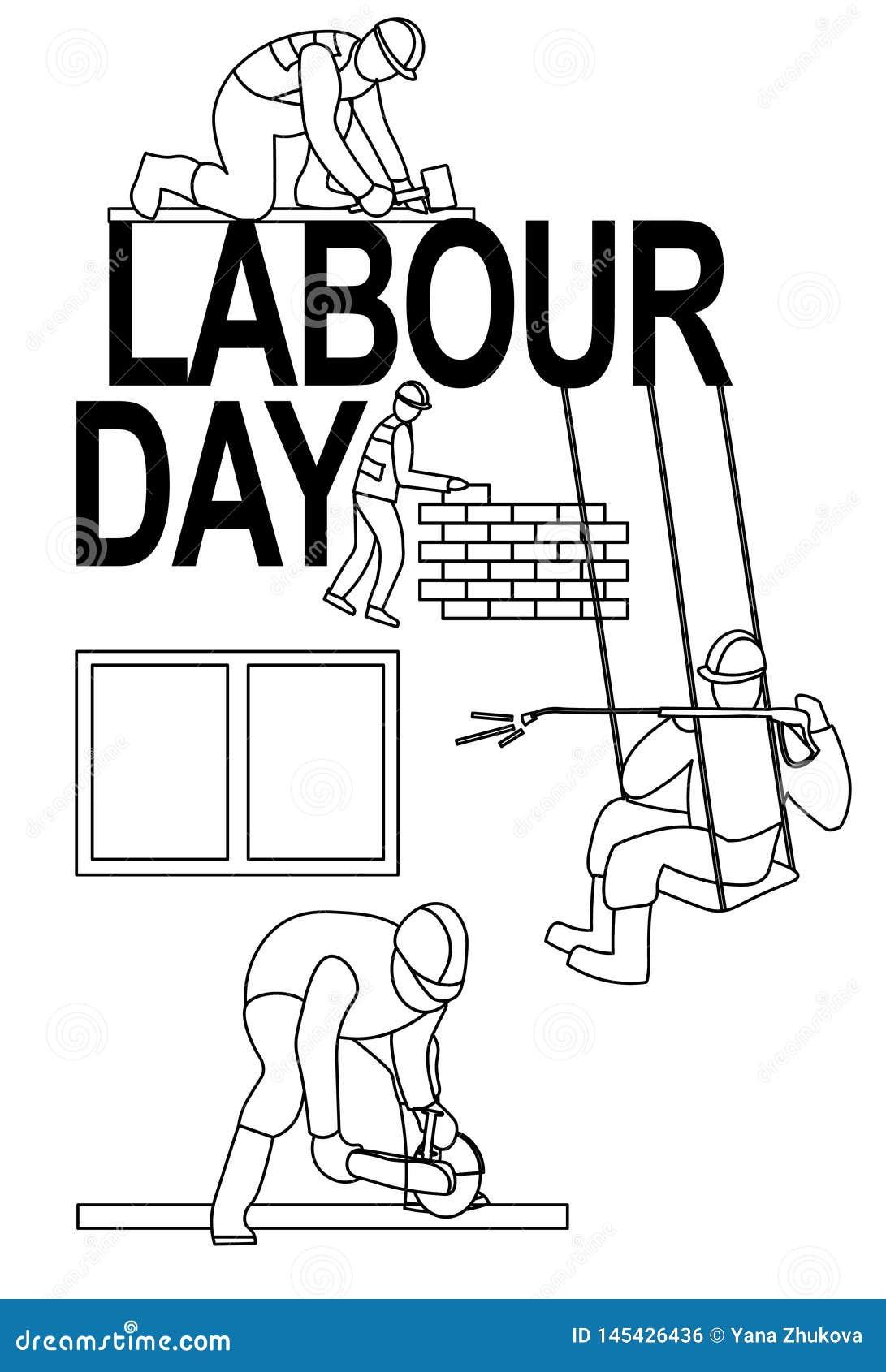 Иллюстрация поздравительной открытки 1-ое мая знамени плаката работни