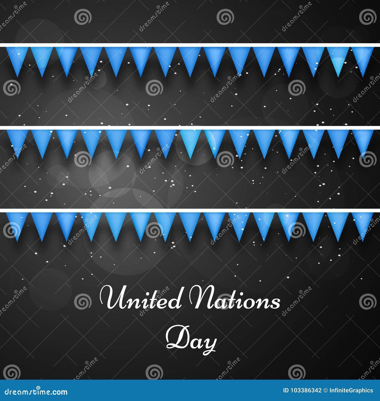 Иллюстрация предпосылки дня Организации Объединенных Наций
