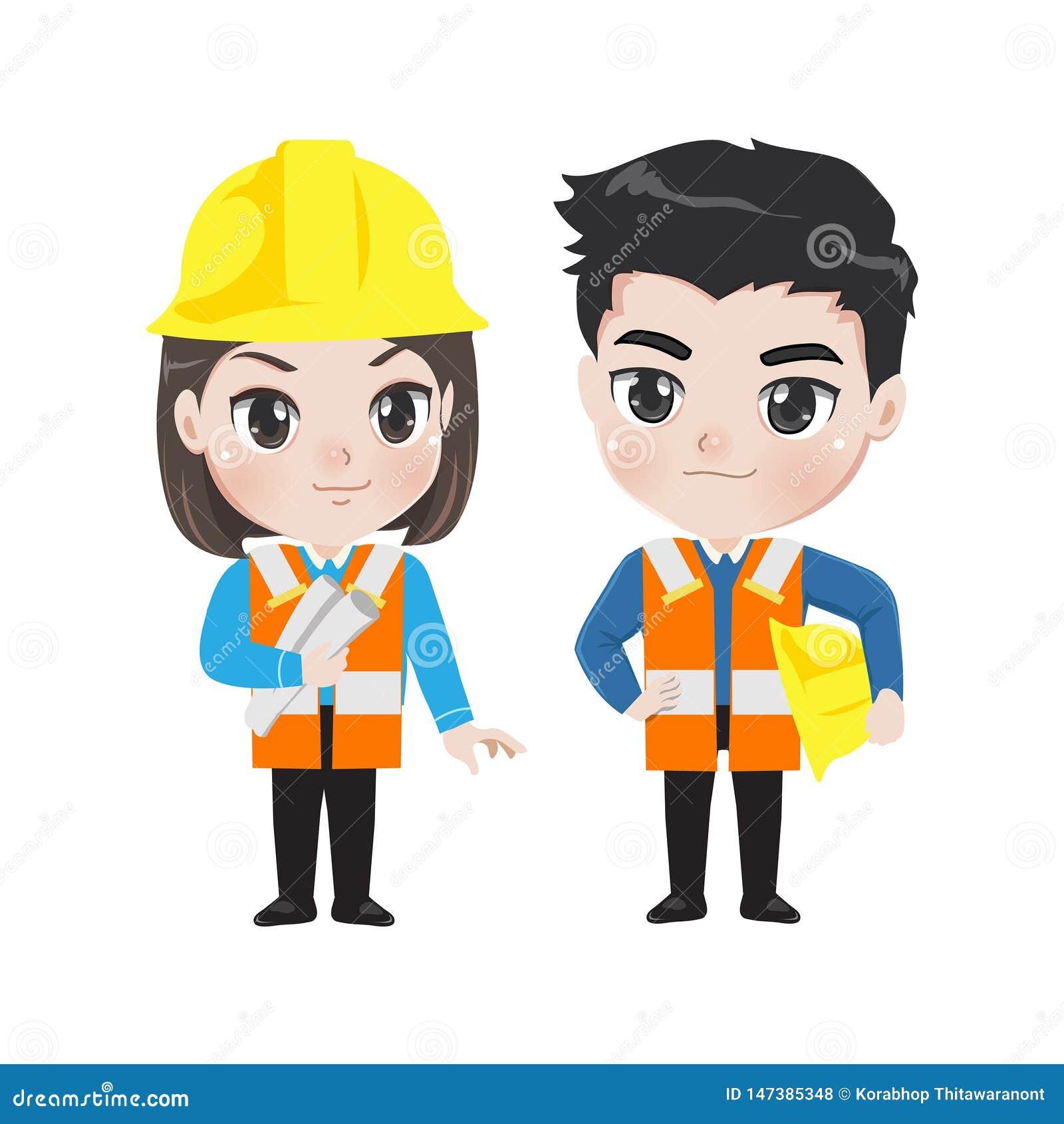 Иллюстрация 2 работников инженера