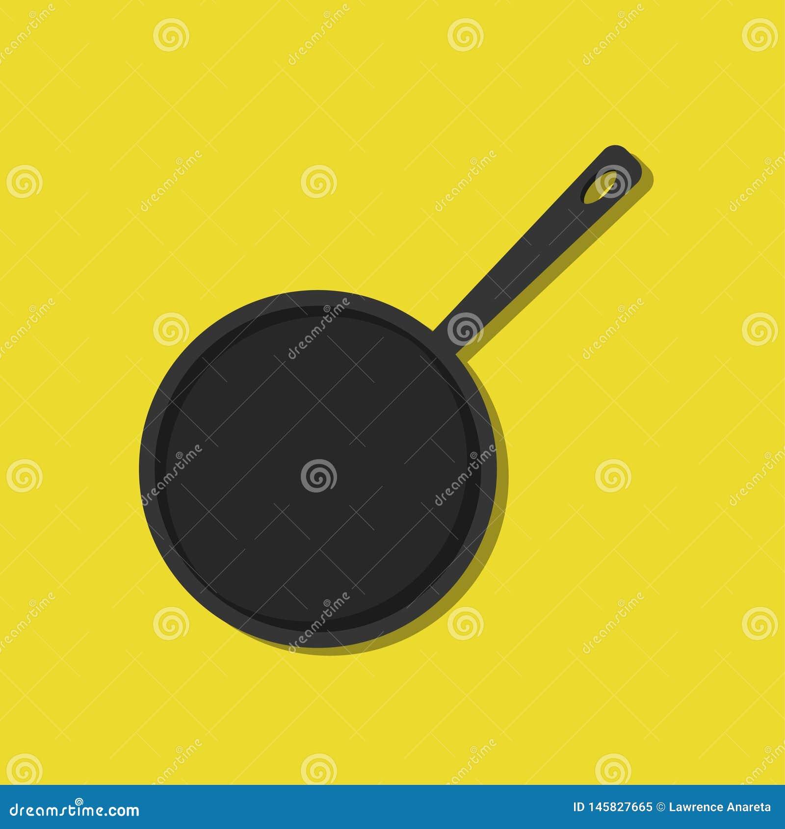 Иллюстрация сковороды взгляда сверху