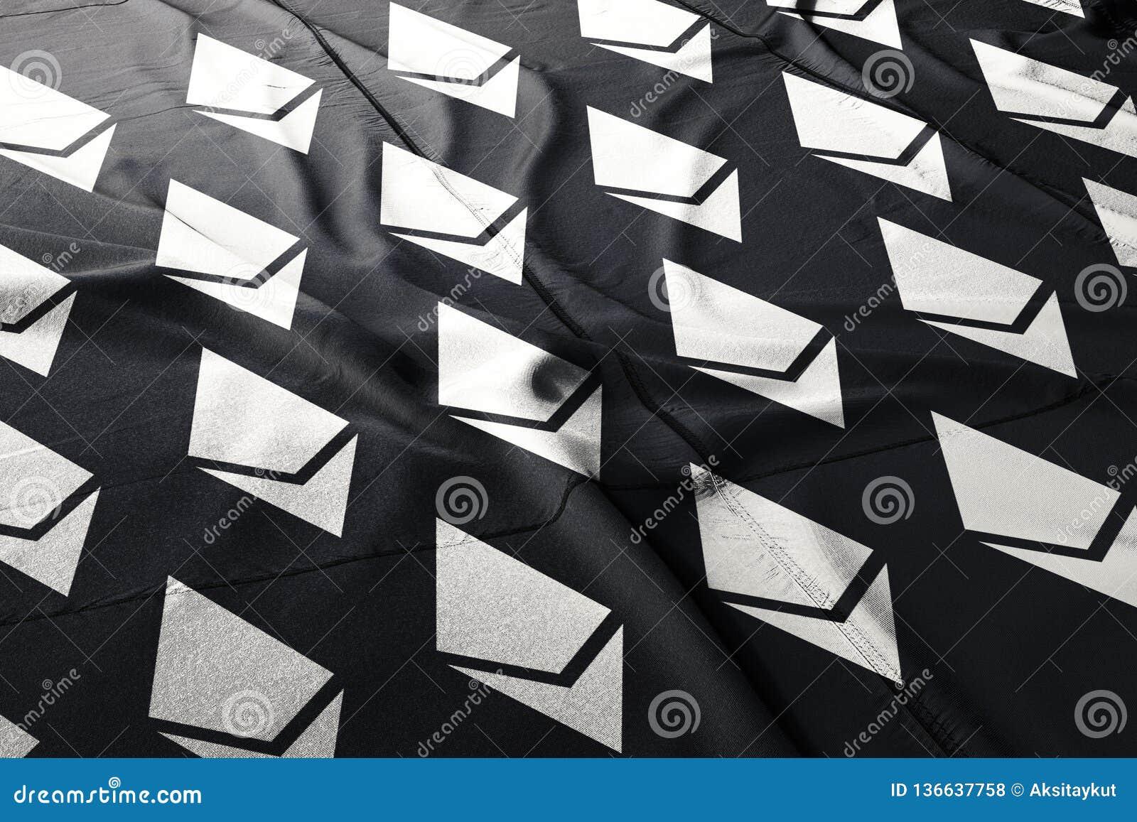 Иллюстрация ткани флага Ethereum ETH секретная