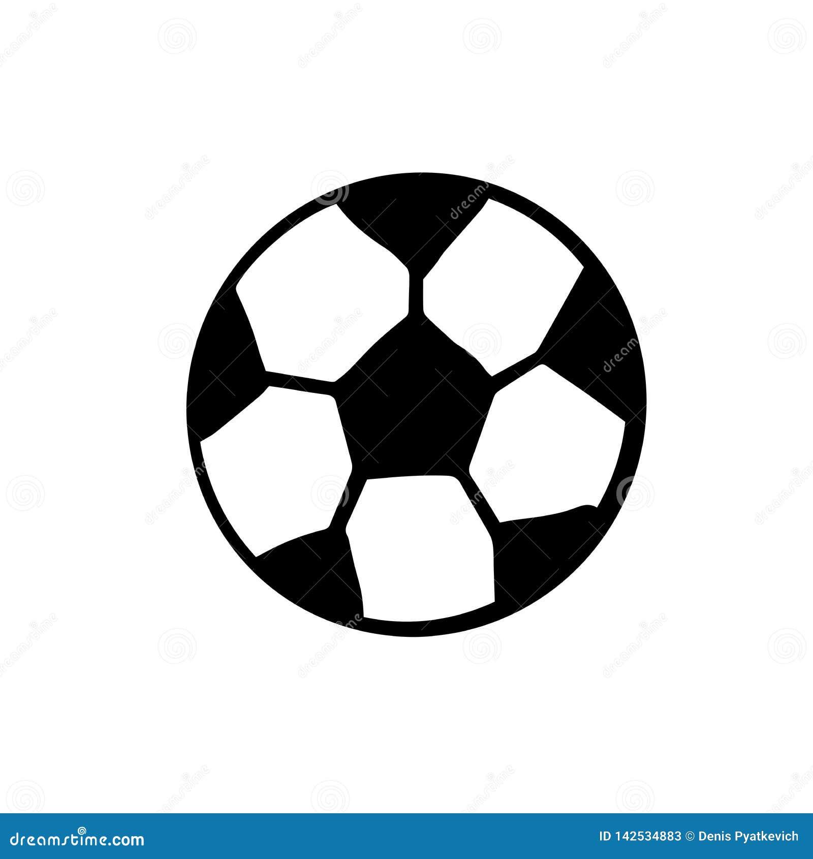 Иллюстрация футбола притяжки руки изолированная шариком на белой предпосылке иллюстрация doodle