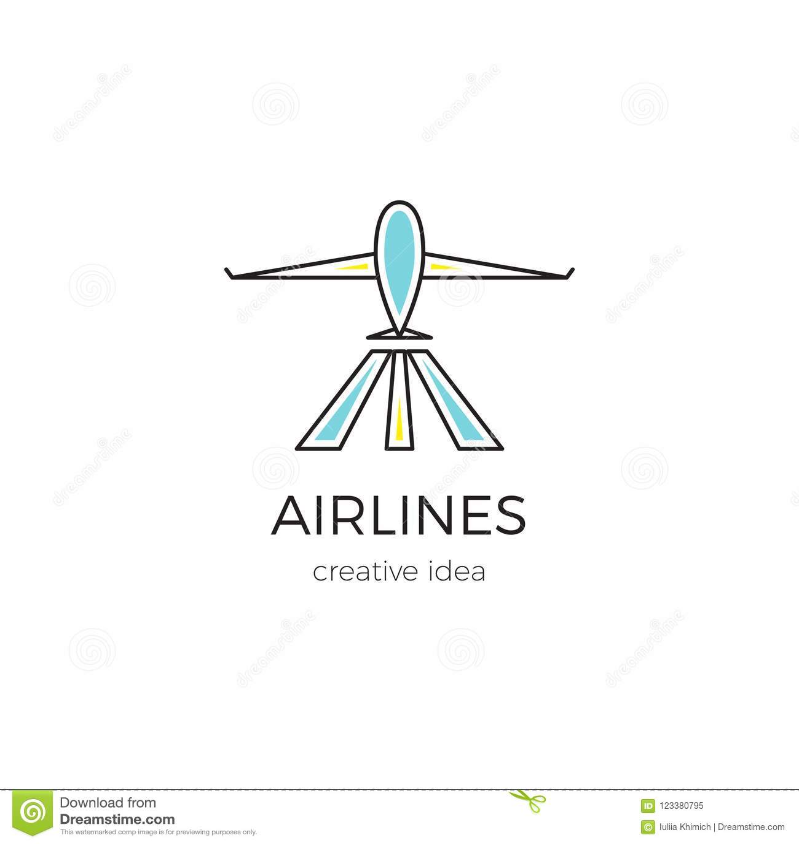 Иллюстрация шаблона логотипа для авиатранспортной компании, авиапорта или бюро путешествий