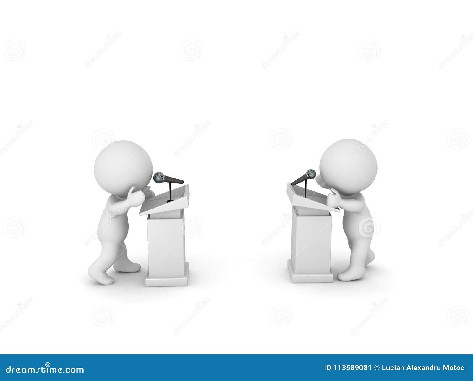иллюстрация 3D heated общественного дебата