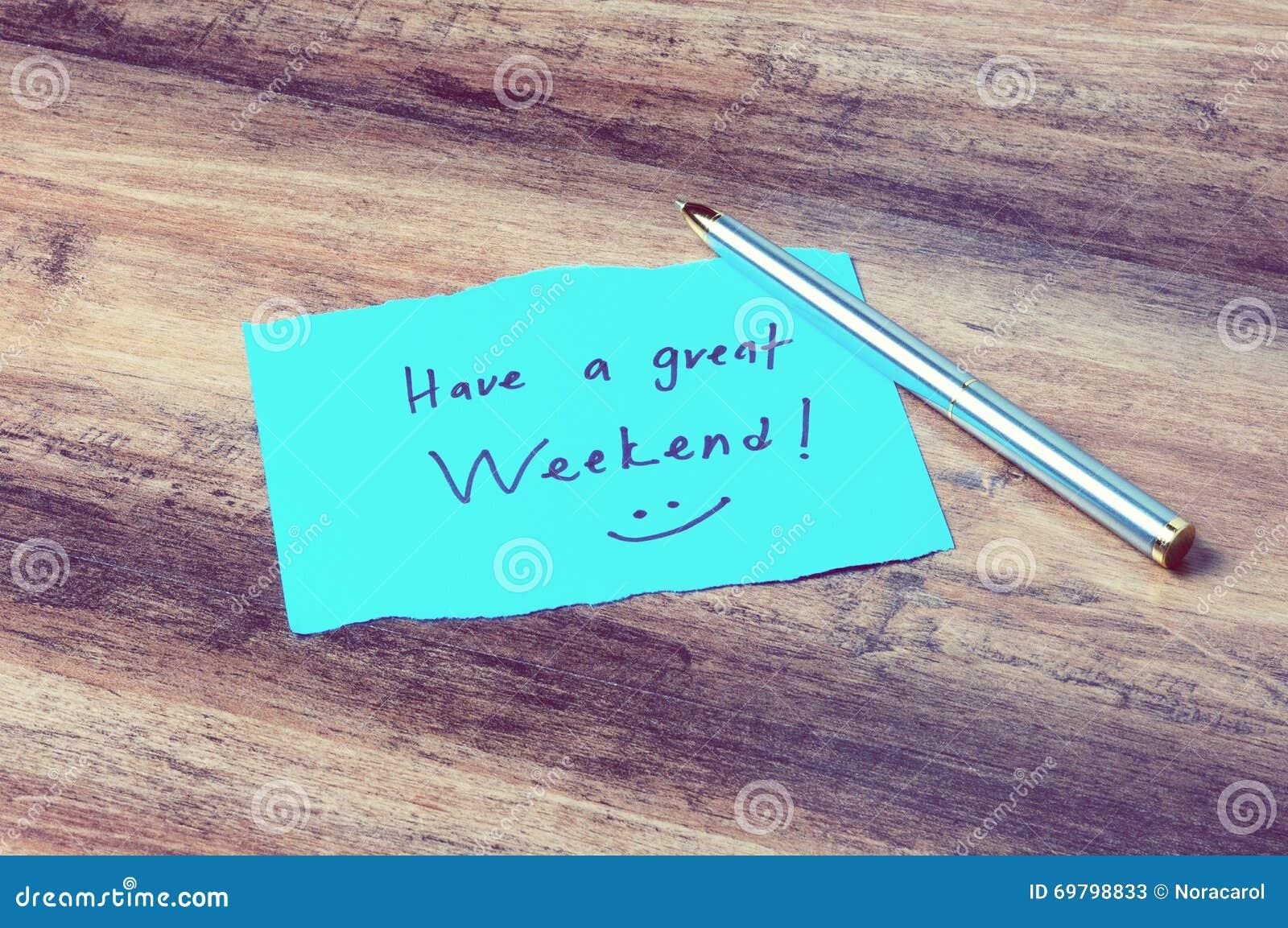 Имейте большие выходные