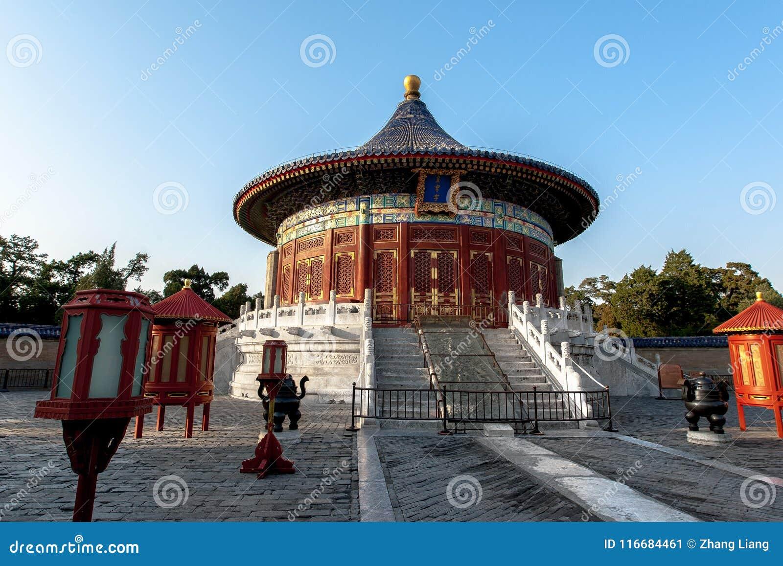 Имперский свод рая в Temple of Heaven, Пекине, Китае