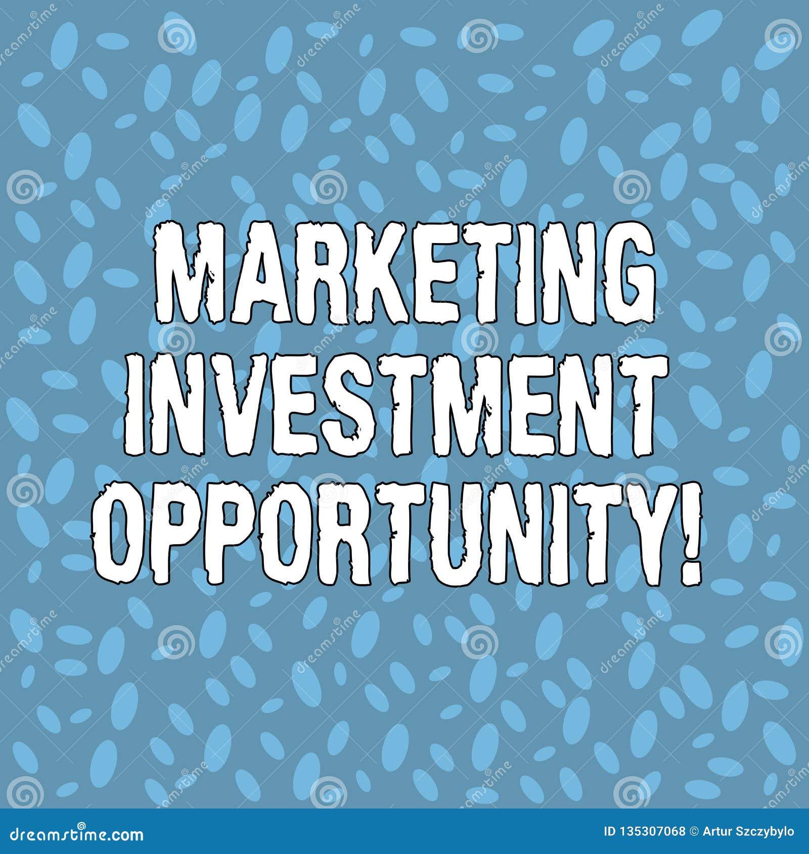 Инвестиционная возможность маркетинга текста почерка Смысл концепции предпринимая полутоновое изображение нового продукта или обс