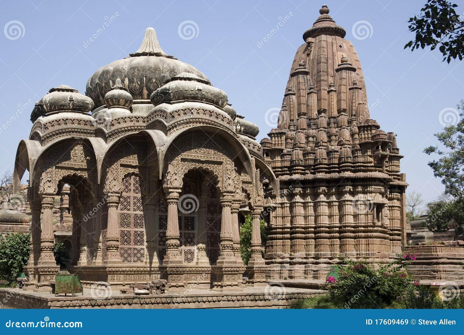 индусское mandore Индии jodhpur около виска