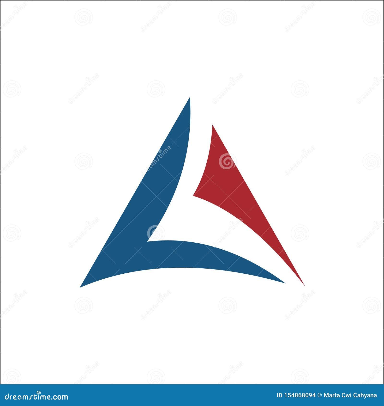 Инициалы вектор логотипа треугольника