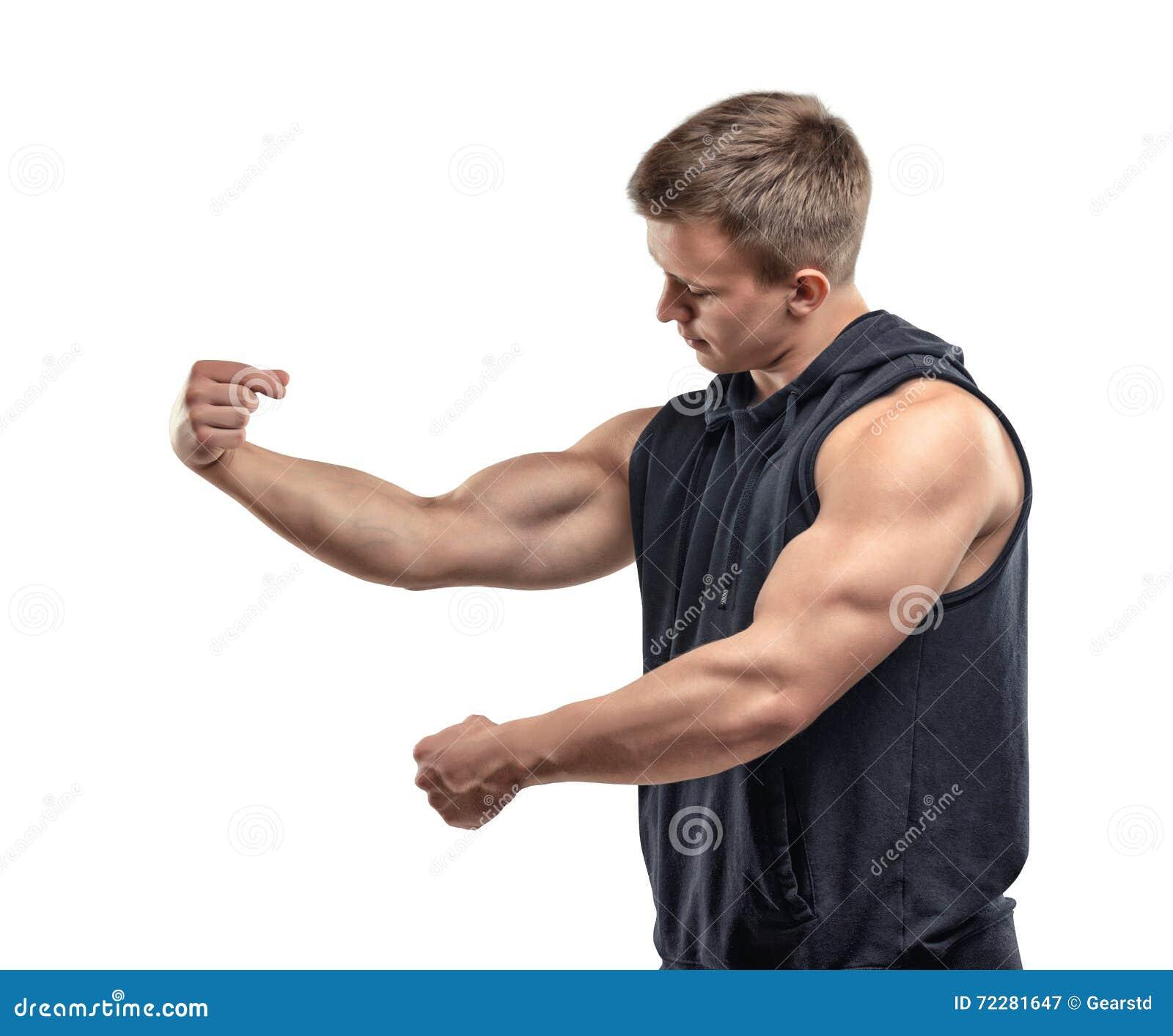 длинной с Полу молодые мышечные представлять и выставок человека подготовьте мышцы, бицепс