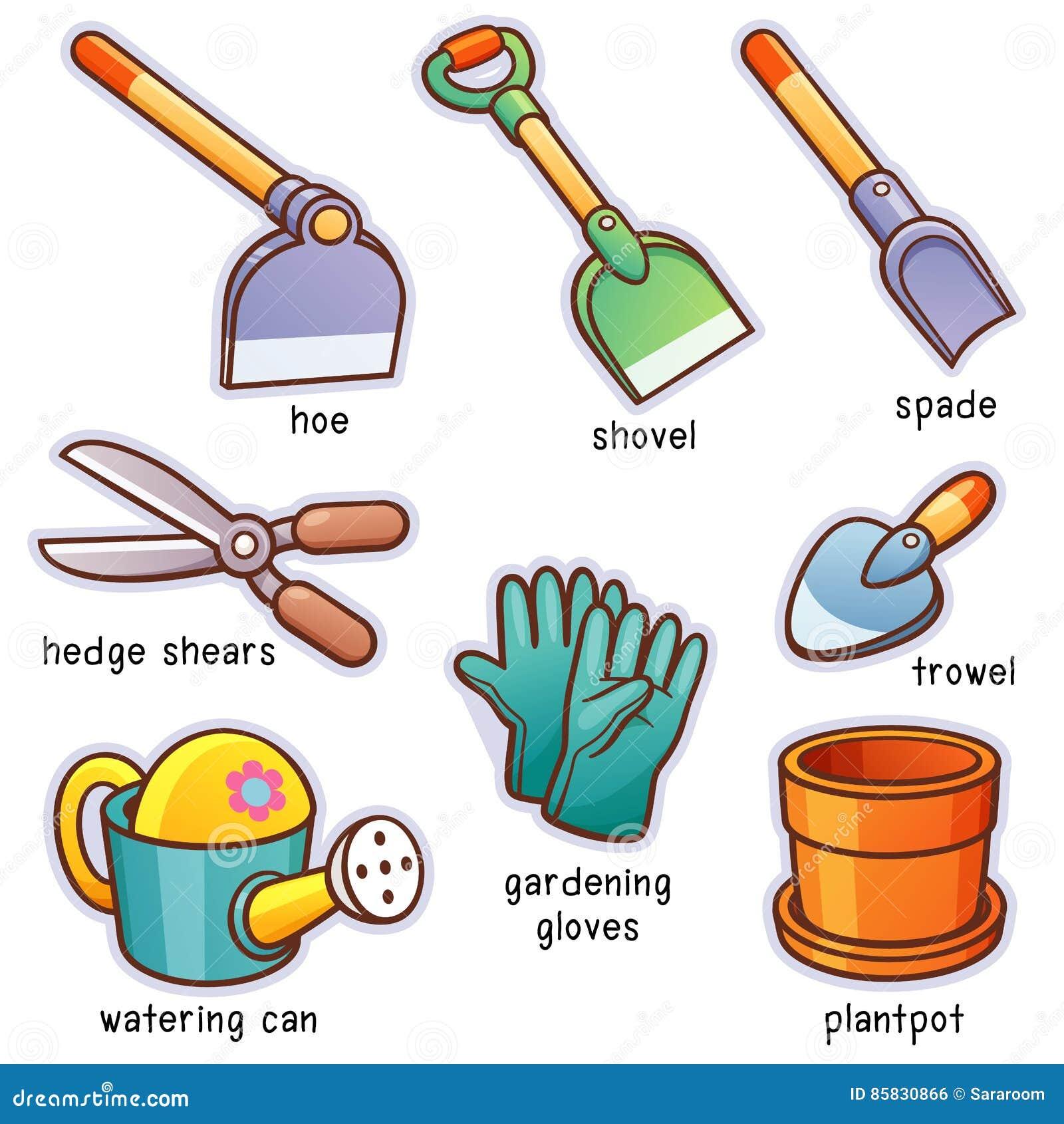 инструменты весеннего времени сада садовничая