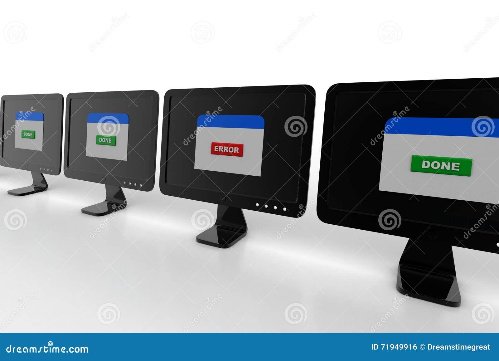 Интернет-страница показывая ошибку в экране