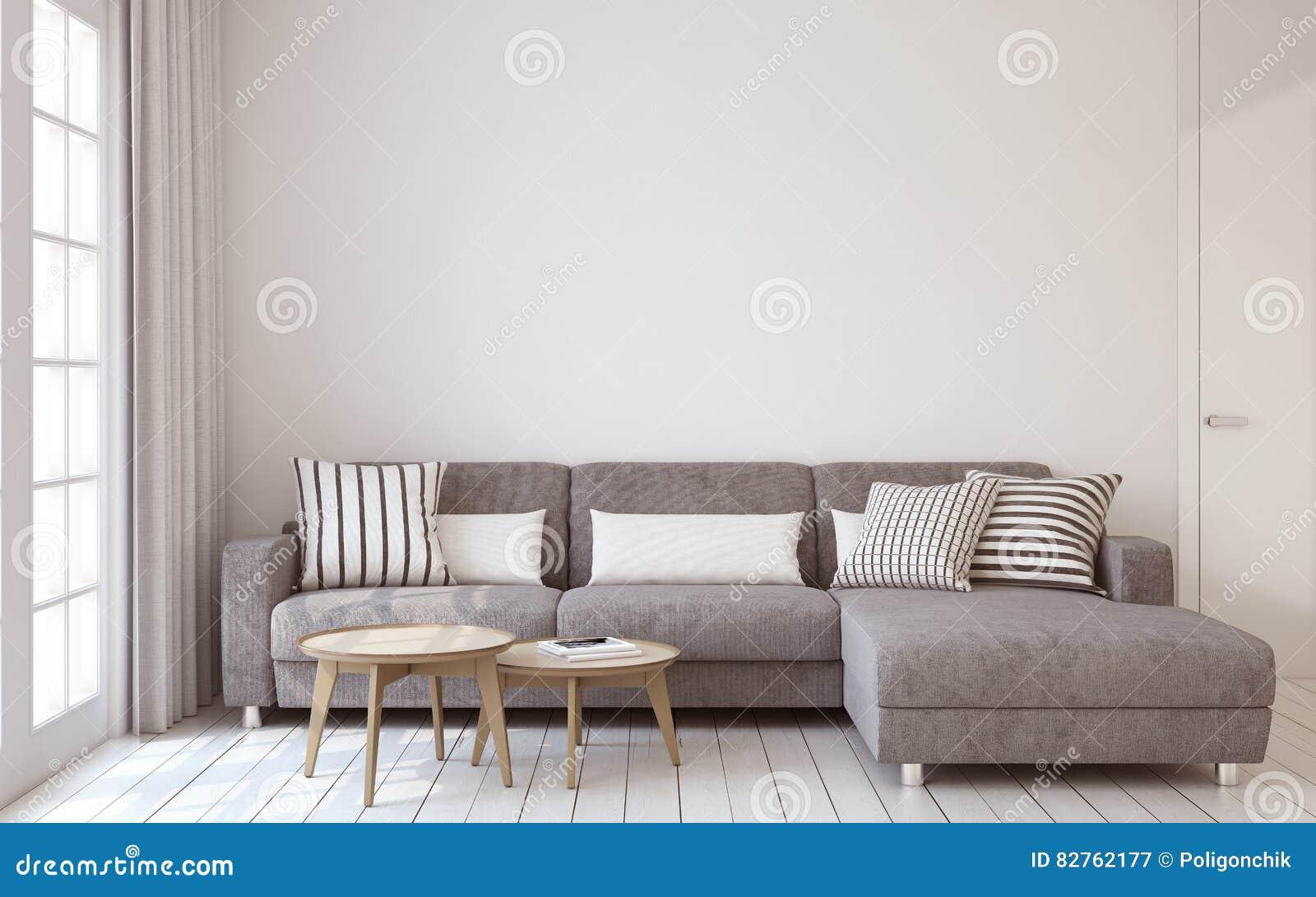 интерьер Жить-комнаты 3d представляют