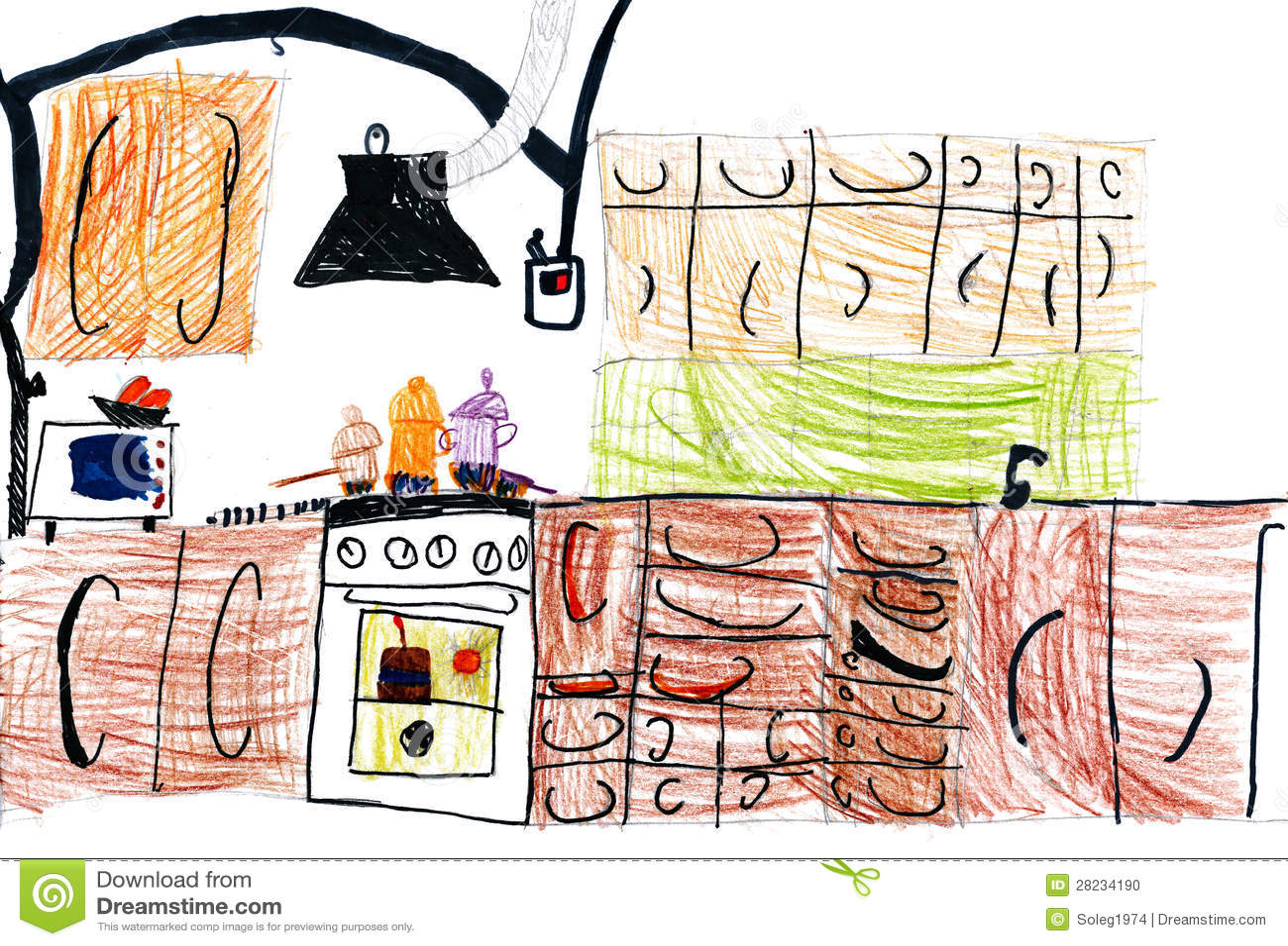 Дизайн кухни нарисовать