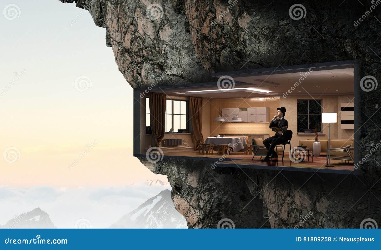 Интерьер офиса в утесе Мультимедиа