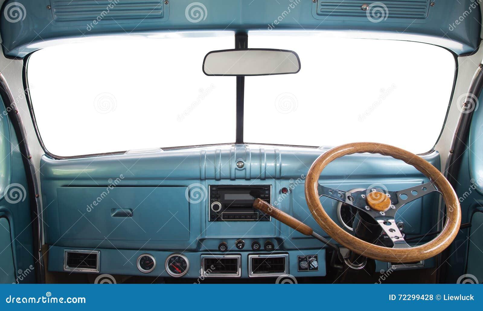 Download Интерьер ретро автомобиля стоковое фото. изображение насчитывающей осени - 72299428
