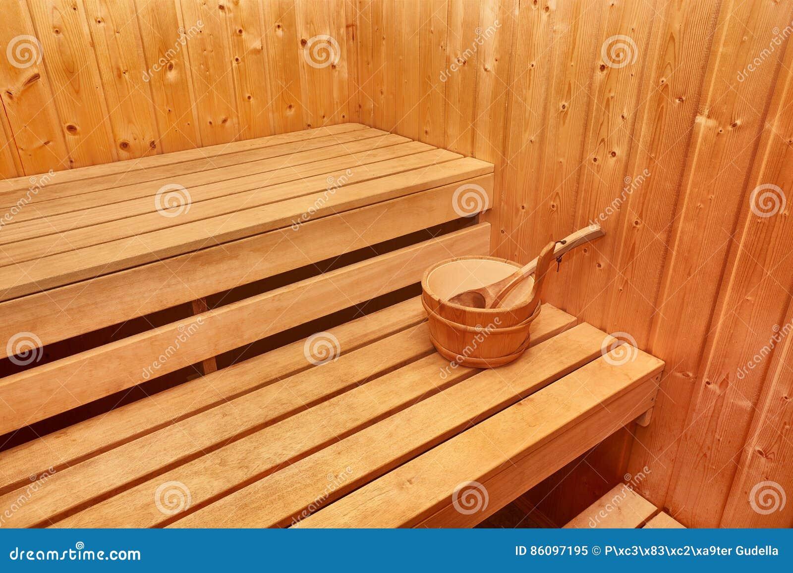 Интерьер сауны деревянный