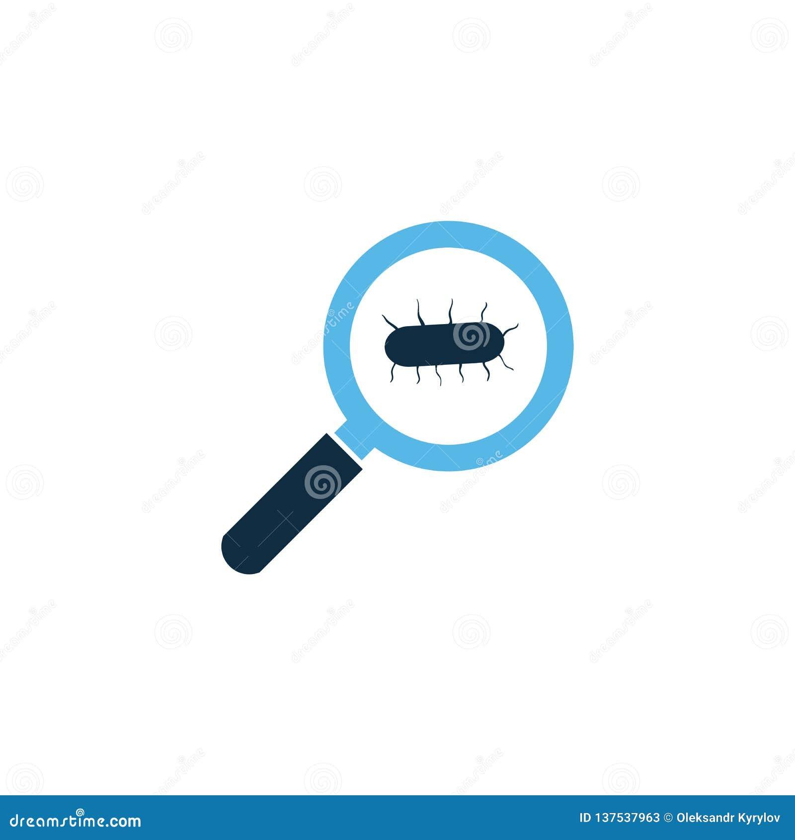 инфекция вируса семенозачатка, микро- бактерии под лупой Иллюстрация вектора изолированная на белой предпосылке