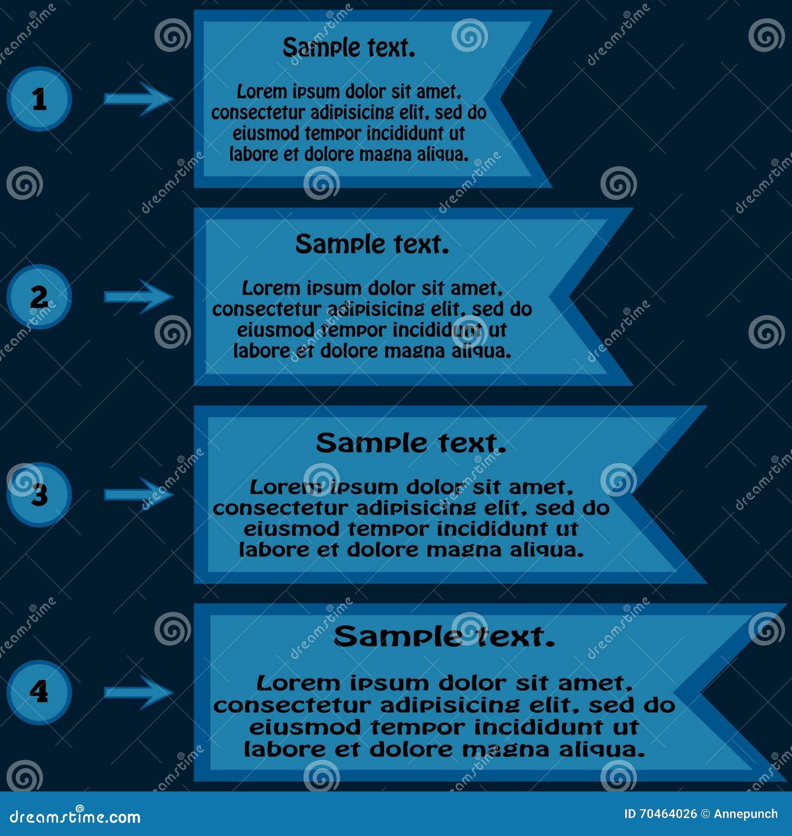 Информация в форме таблицы Рамки для текста и n