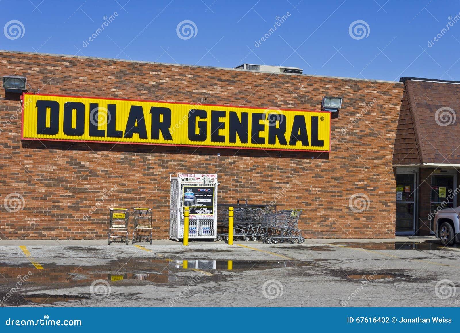 Индианаполис - март 2016: Положение II доллара общее розничное
